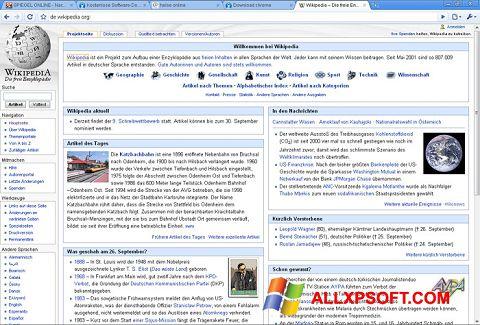 Screenshot SRWare Iron Windows XP