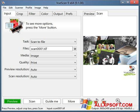 Screenshot VueScan Windows XP