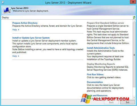 Screenshot Lync Windows XP