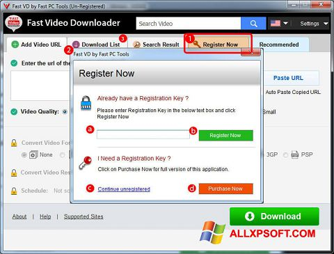Screenshot Fast Video Downloader Windows XP