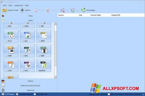 Screenshot Format Factory Windows XP