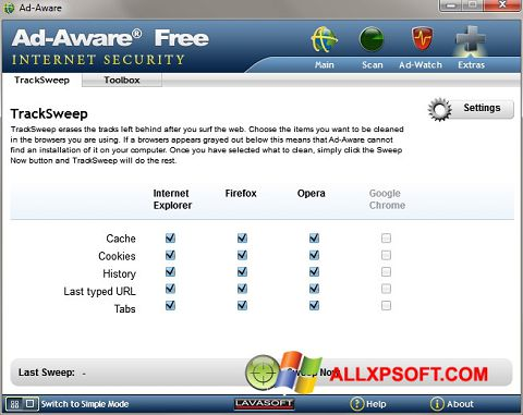 Screenshot Ad-Aware Windows XP