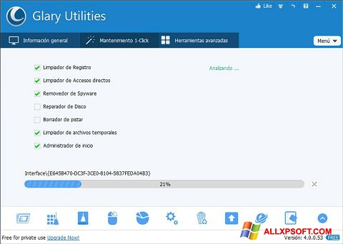 Screenshot Glary Utilities Windows XP