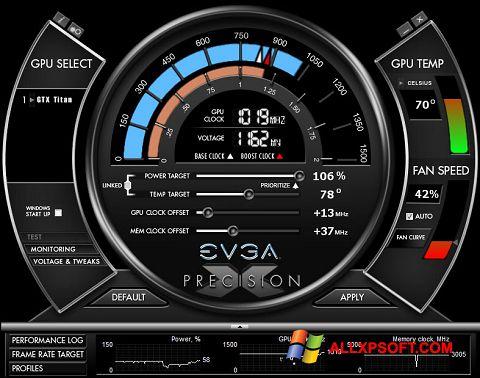 Screenshot EVGA Precision X Windows XP
