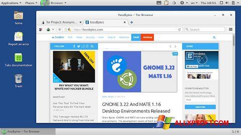 Screenshot Tor Browser Windows XP