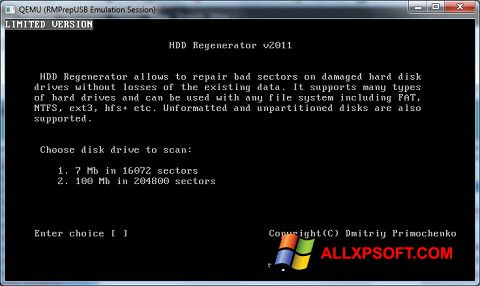 Screenshot HDD Regenerator Windows XP