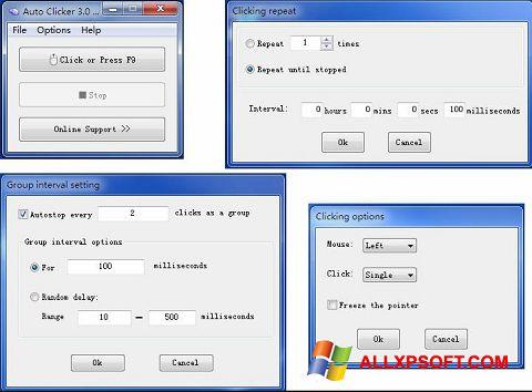 Screenshot GS Auto Clicker Windows XP
