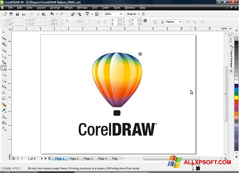 Screenshot CorelDRAW Windows XP