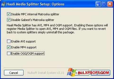 Screenshot Haali Media Splitter Windows XP