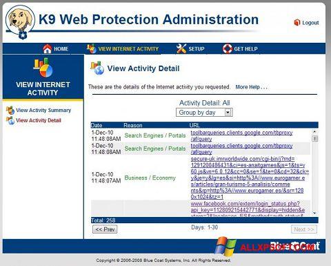 Screenshot K9 Web Protection Windows XP