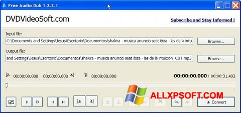 Screenshot Free Audio Dub Windows XP