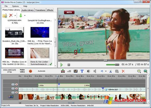 Screenshot Bolide Movie Creator Windows XP