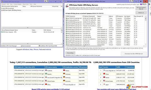 Screenshot VPN Gate Windows XP
