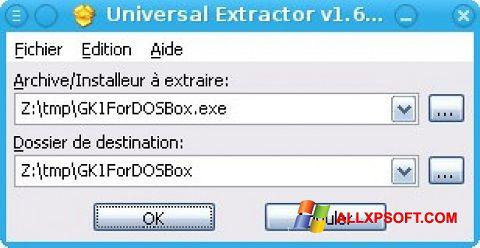 Screenshot Universal Extractor Windows XP