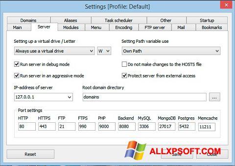 Screenshot Open Server Windows XP