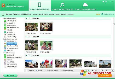 Screenshot iPhone Data Recovery Windows XP