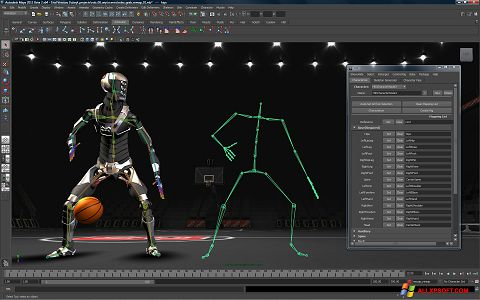 Screenshot Autodesk Maya Windows XP