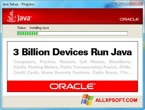 Screenshot Java Runtime Environment Windows XP