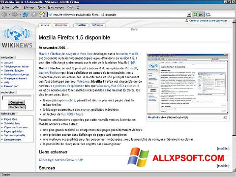 Screenshot Mozilla Firefox Windows XP