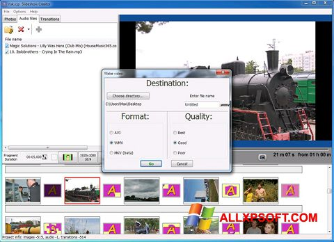 Screenshot Bolide Slideshow Creator Windows XP