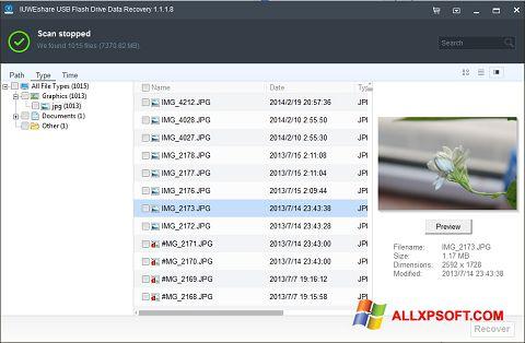 Screenshot USB Flash Drive Recovery Windows XP