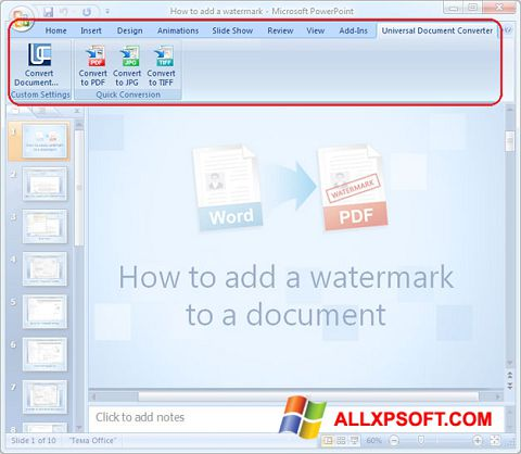 Screenshot Microsoft PowerPoint Windows XP
