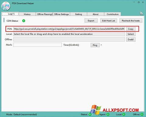 Screenshot DownloadHelper Windows XP
