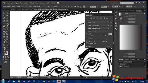 Screenshot Adobe Illustrator CC Windows XP