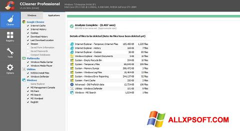Screenshot CCleaner Professional Plus Windows XP