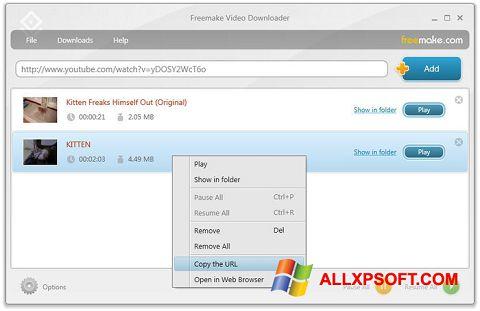 Screenshot Freemake Video Downloader Windows XP