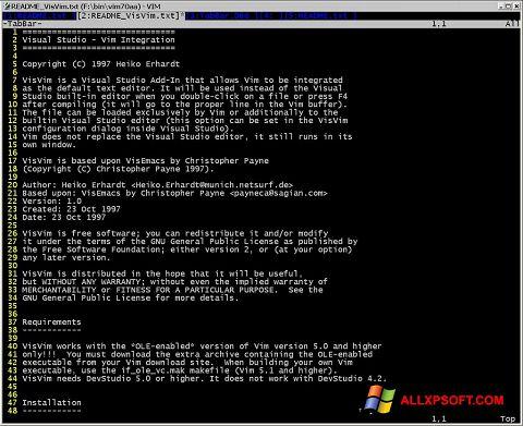 Screenshot Vim Windows XP