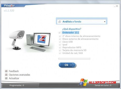 Screenshot PrivaZer Windows XP