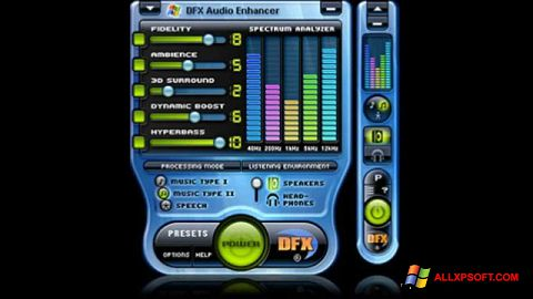 Screenshot DFX Audio Enhancer Windows XP