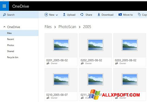 Screenshot OneDrive Windows XP