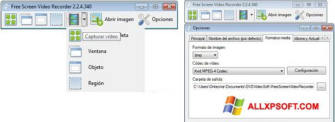 Screenshot Free Screen Video Recorder Windows XP
