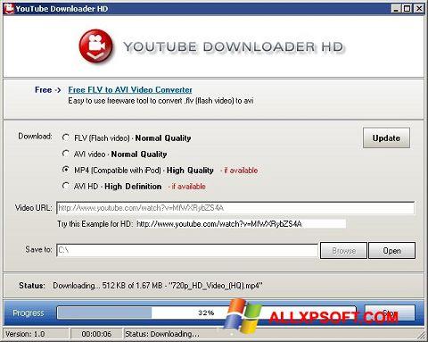 Screenshot Youtube Downloader HD Windows XP